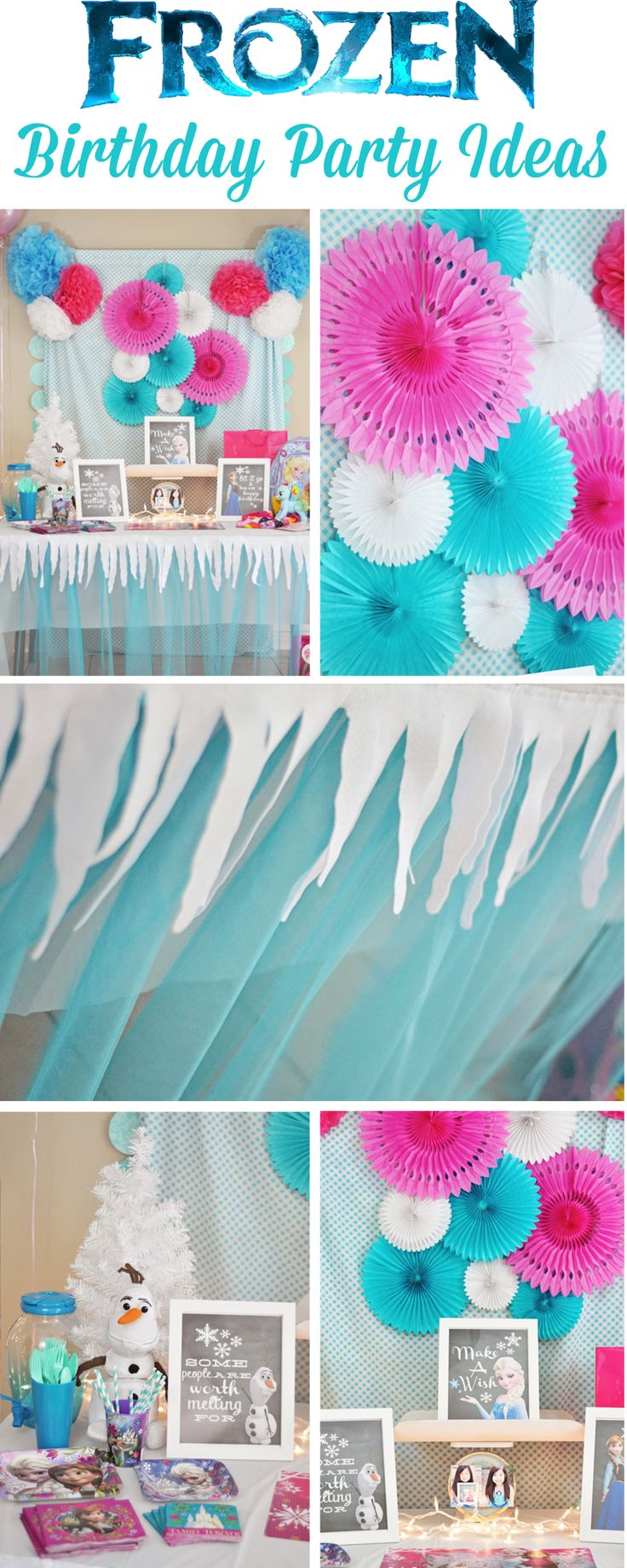 DIY ideas for a Frozen inspired birthday party