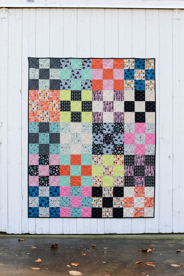 In Color Order: Halloween Nine-Patch Quilt