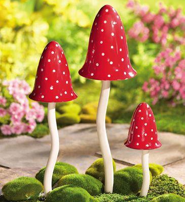 Mushroom wind chimes!