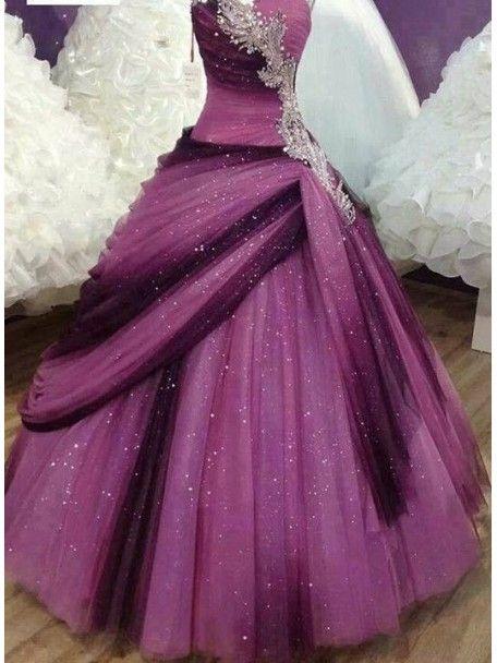 Luxuriöse Schatz lange Quinceanera Kleid Plissee / Prom Kleid