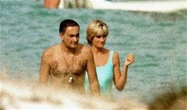 Holidays 1997 with Dodi Fayed.