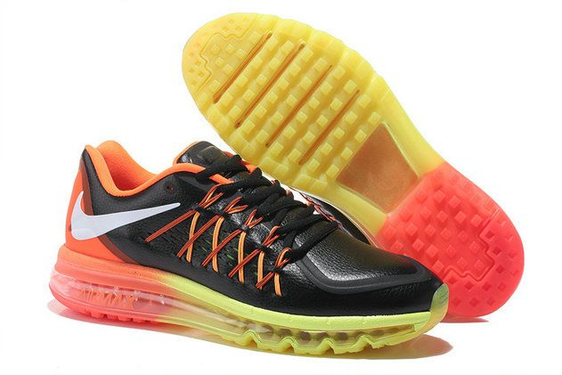 the latest 0d429 2dbfb Where To Buy WMNS Nike Air Max 2015 Leather Black Gold Yellow Silver Hot  Lava