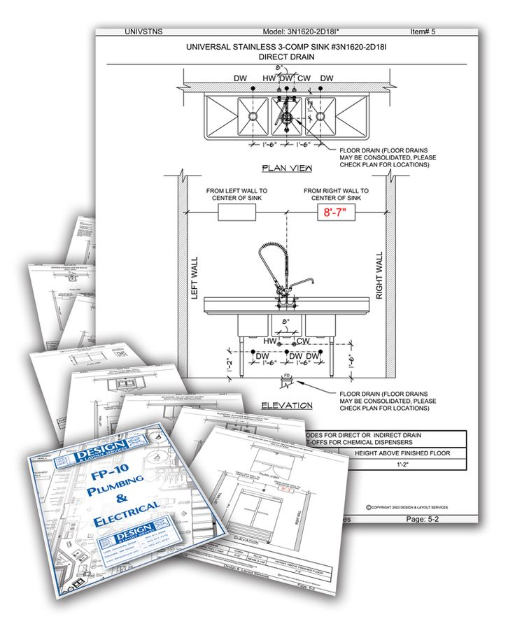 Coffee shop plumbing and electrical Layout design, Shop