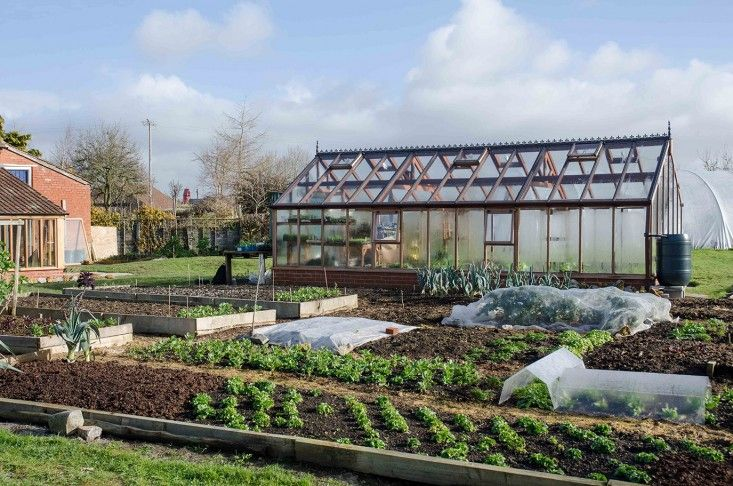 tender plant mini greenhouses    Charles Dowding's No-Dig (And No Weed) Garden in Somerset - Gardenista