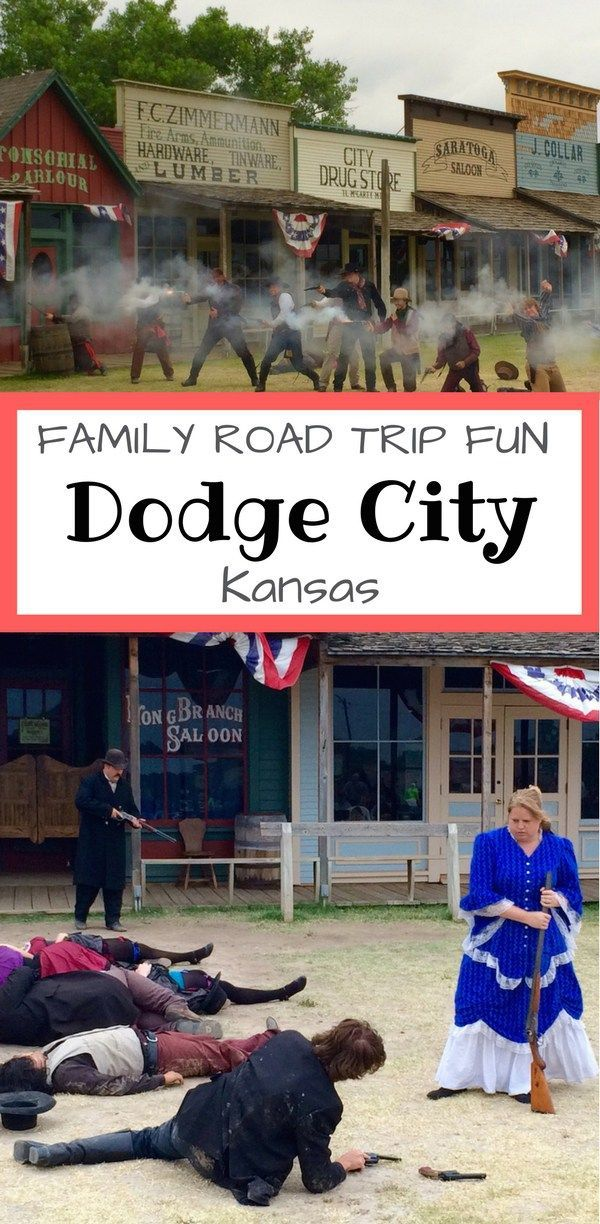 Head to Dodge City, Kansas, for road trip fun with the family, a summertime shoot-out  tops the list for my boys.