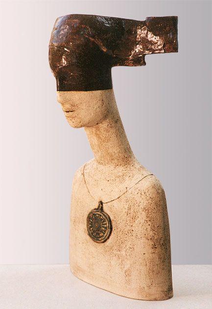 "Stella Zadros, ceramic sculpture- ""Temida"", 2005, 65 cm (h), in private collection (Poland), www.stellaart.com"