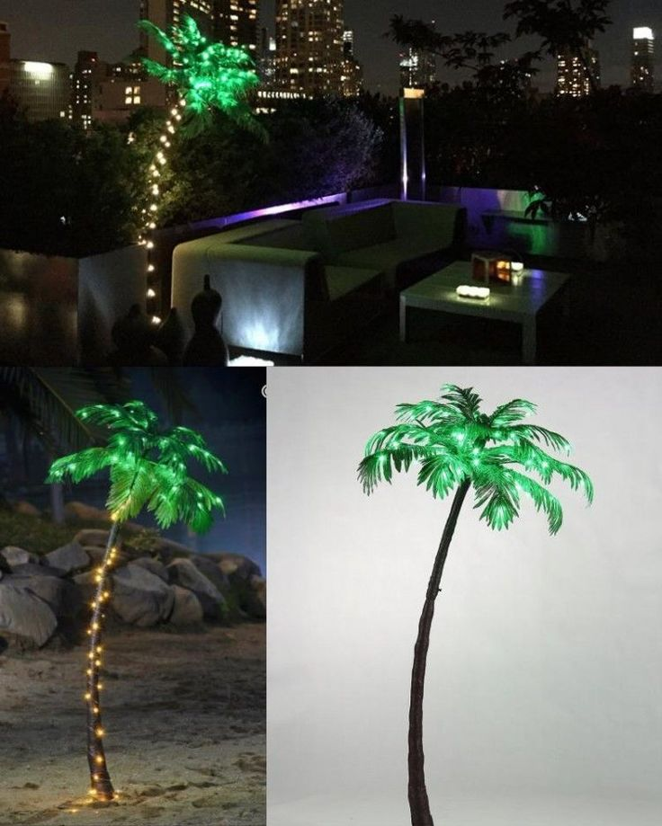 Christmas Lighted Palm Tree Home Party Garden Pool Outdoor Holiday Decoration #ChristmasLightedPalmTree
