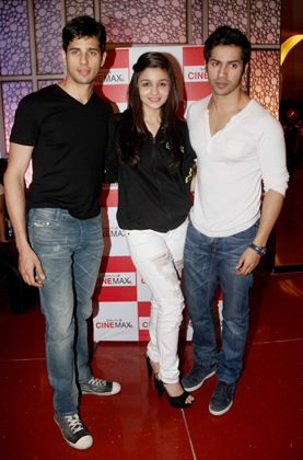 Alia, Varun, Siddharth at the screening of 'Student of the Year'
