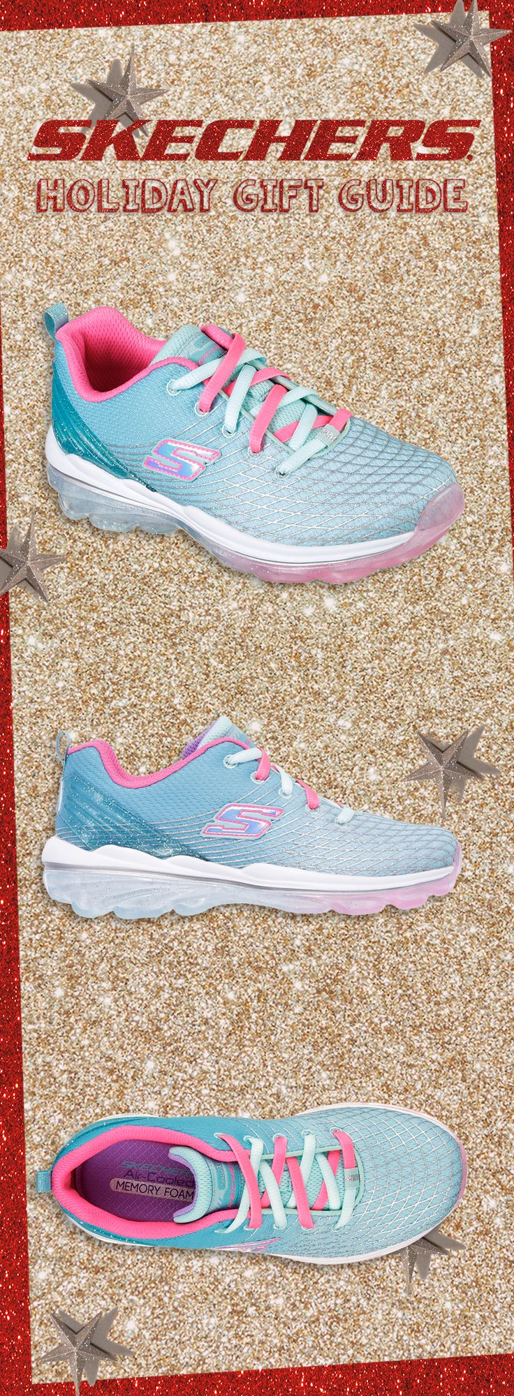 Redefine sport cool style with the Skech-Air Deluxe for littles. #SKECHERSholiday