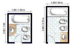 Medidas baños pequeños