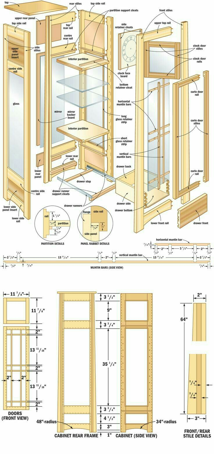 French tuteur trellis woodworking projects amp plans - Mission Curio Clock Canadian Home Workshop