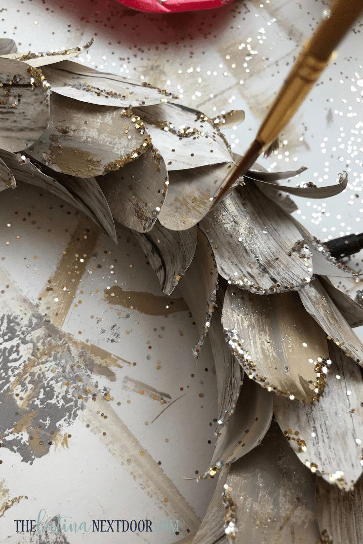 DIY Lit Birch Wreath – Pottery Barn Dupe