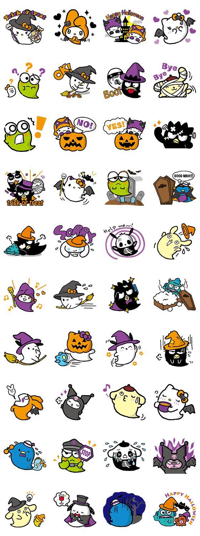 Sanrio Happy Ghost Town LINE Sticker Cute stickers