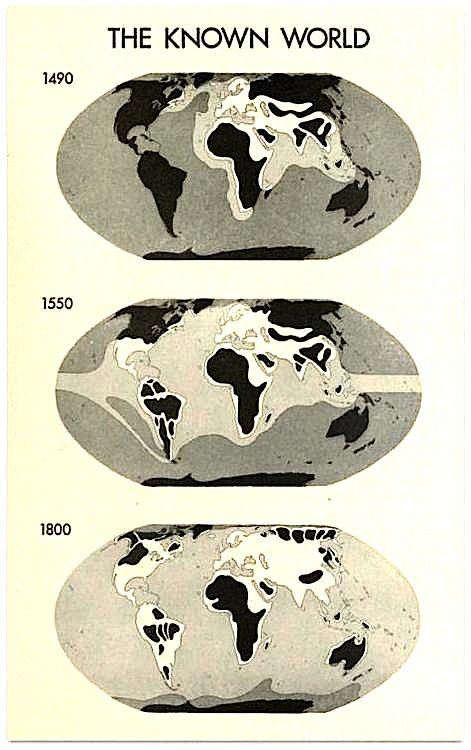 The known world from a European perspective.