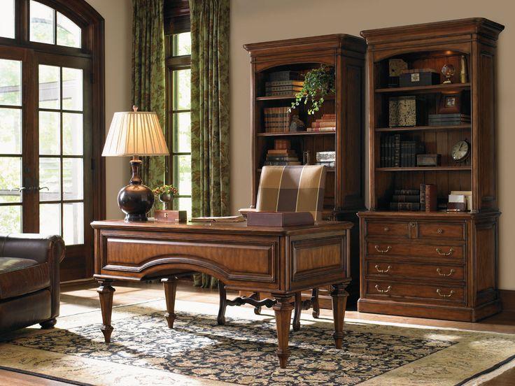 Breckenridge castle pines desk home office set sligh home gallery stores work it - Pine office desk ...
