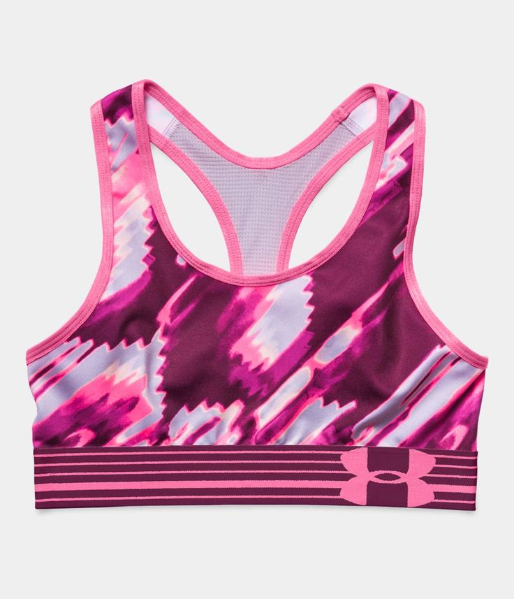 Girls' UA HeatGear® Armour Printed Sports Bra   Under Armour CL