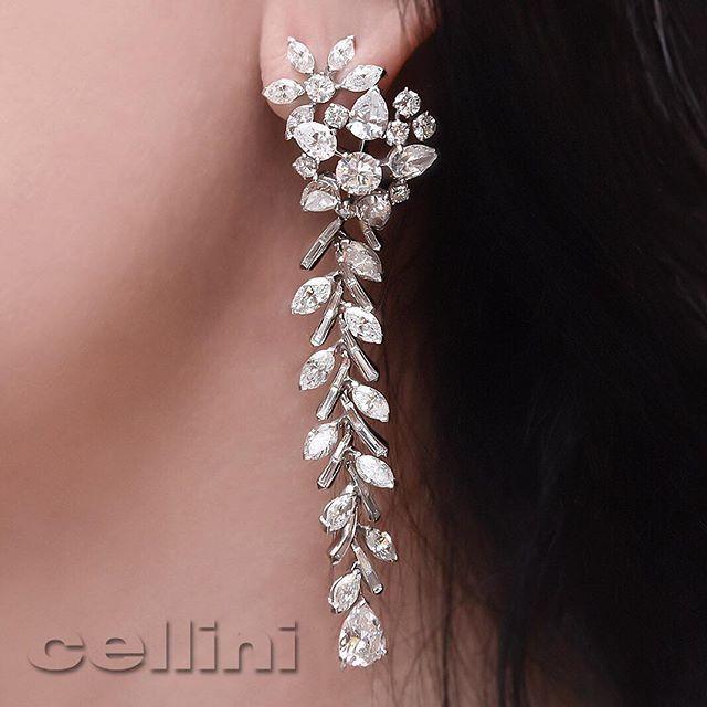 Cellini Diamond Fireworks Earrings. #FancyCut #FancyLife #Luxury Feeling…