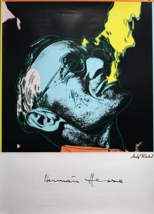 Hermann Hesse by Andy Warhol - this one goes straight to my wall, there is so much I love about it