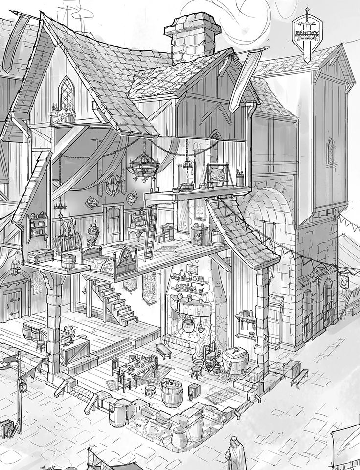 390 Best Houses Illustrations Exteriors Black And White