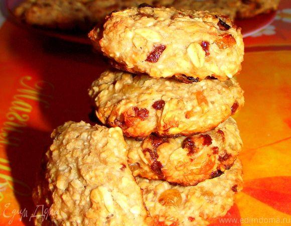 Очень полезные овсяные печенья