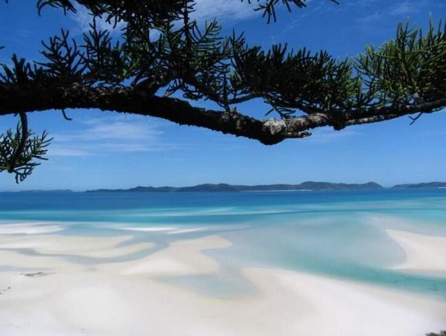 Beautiful White Haven Beach in #Queensland #Australia - easily one of the most stunning white sandy beaches in the world #travel #gapyear