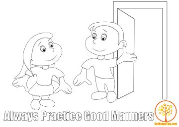 25 ways to get happy right now free coloring page always practice good manners