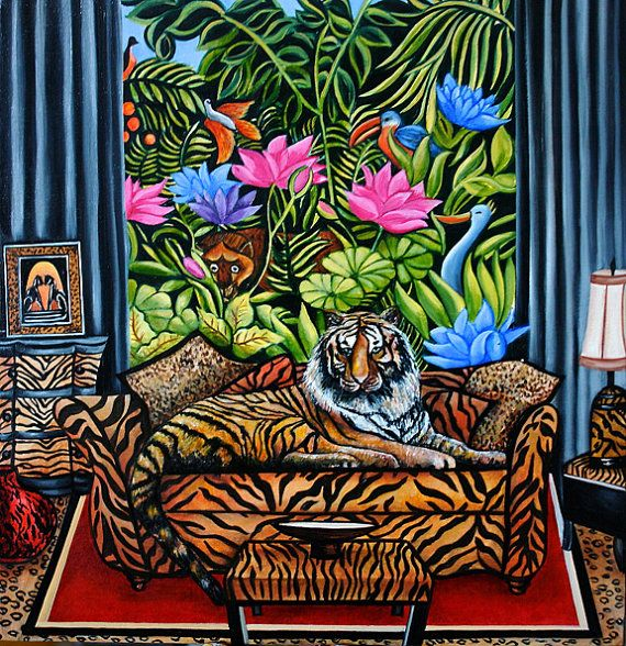 25+ best Jungle Art ideas on Pinterest   Jungle pattern ...