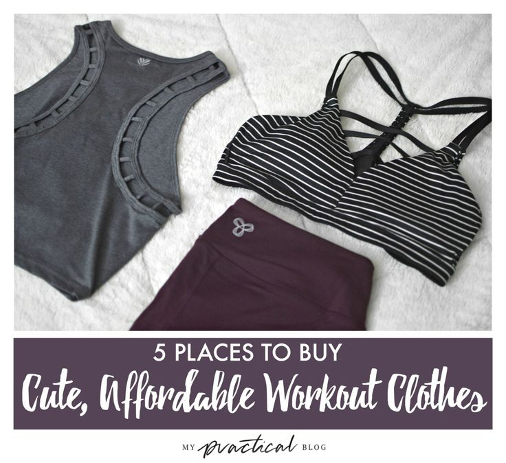 5 Places to Buy Cute, Affordable Workout Clothes