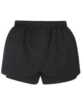 Black Mid Waist Ruffle Shorts US$28.33
