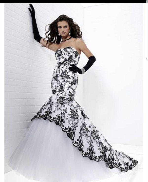 Black   White Tiffany Designs Mermaid Prom Dress   Gown   Sweet 16 ... 4a81dc870cf8