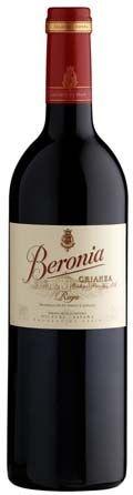 A bottle of Beronia Crianza Rioja