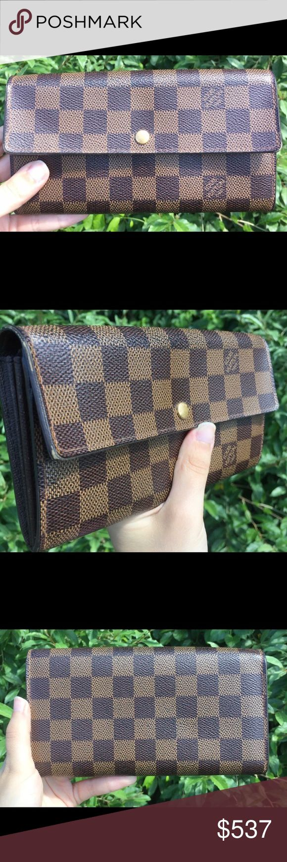 Louis Vuitton Damier Wallet 100% AUTHENTIC- Great Condition - Price firm no trades - buy for less & more pics at www.chicboutiqueconsignments.com! MA's #1 designer consignment boutique! Louis Vuitton Bags Wallets
