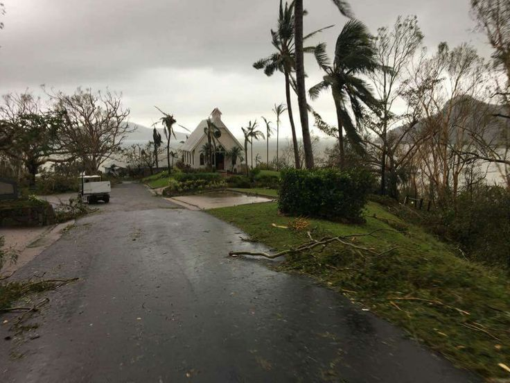 Hamilton Island after Cyclone Debbie qld australia 2017.
