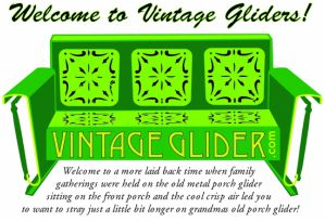 How To Refinish Your Own Old Metal Glider And Old Metal Glider Furniture - Vintage Gliders