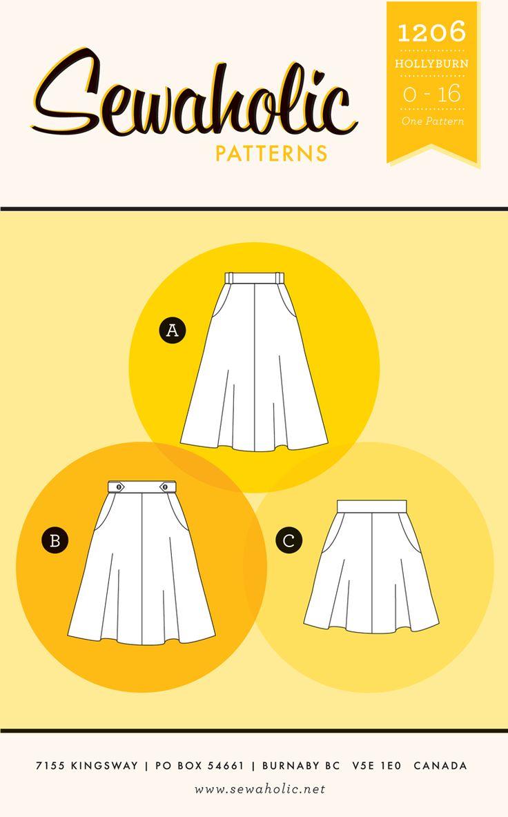 Sewaholic Patterns - Hollyburn Skirt, $13.46 (http://www.sewaholicpatterns.com/hollyburn-skirt/)