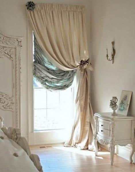 шторы для спальни бежевые