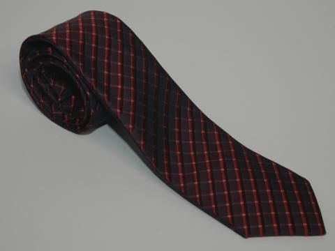 black and red tie
