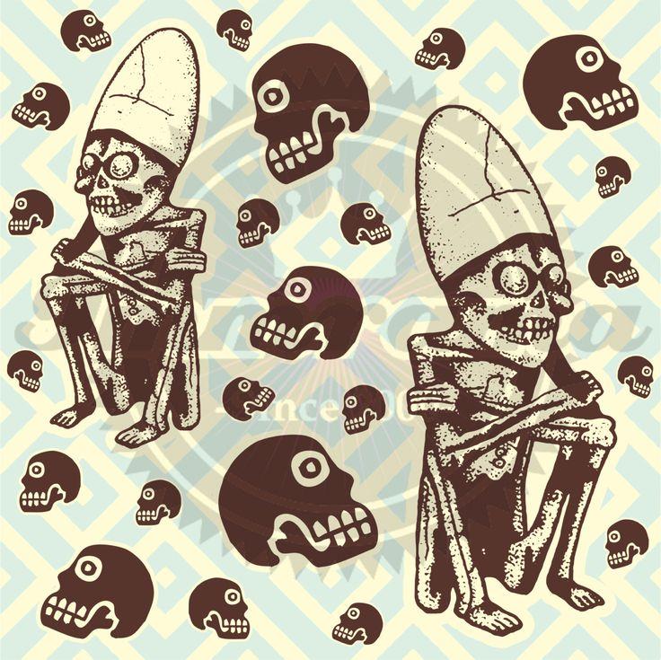 Mictlantecutli... Señor del Inframundo Azteca!!! Fondo de pantalla!!! de ArteImMrAmA en Etsy