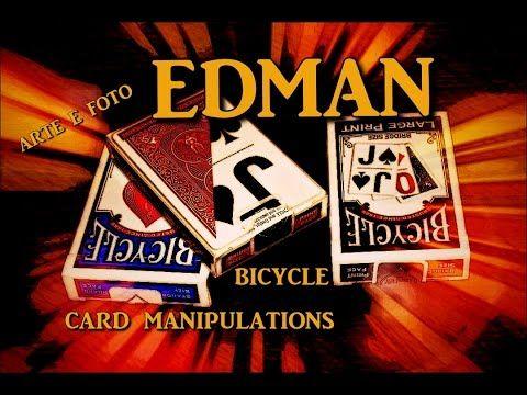 """EDMAN presentazione carte bicycle """" card manipulations """""""