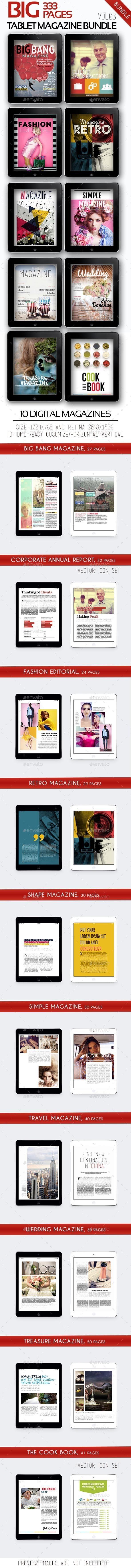 Big iPad &Tablet Magazine Bundle Templates #emagazine #ipadmagazine #ipadjournal Download: http://graphicriver.net/item/big-ipad-tablet-magazine-bundle-vol03/11168993?ref=ksioks