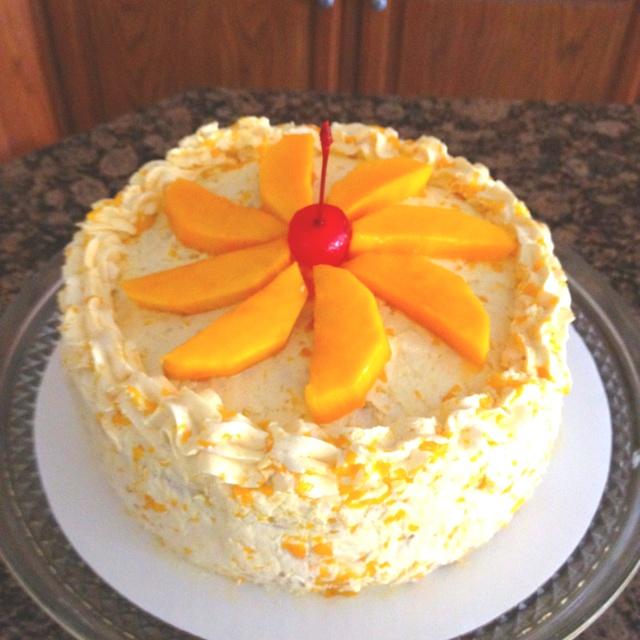 Mango Cake Real Mango Tidbits Amp Slices Love To Bake