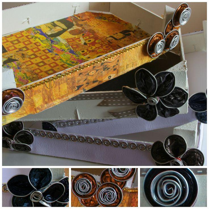 El mundo de Mara: Cajas de fresas decoradas con cápsulas Nespresso