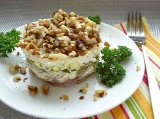 Самые вкусные рецепты: Слоеный салат ″Принц″