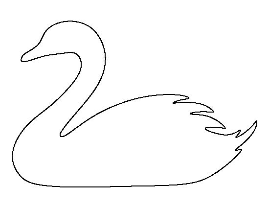 Swan pattern. Use the printable outline for crafts, creating stencils, scrapbooking, and more. Free PDF template to download and print at http://patternuniverse.com/download/swan-pattern/