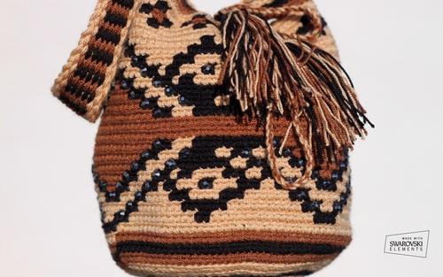 Wayuu Mochilla (Susu Bag) / Tote / Festival Bag / Tropical Paradise - Dream home and vacation / Shop at poshavenueboutique.com