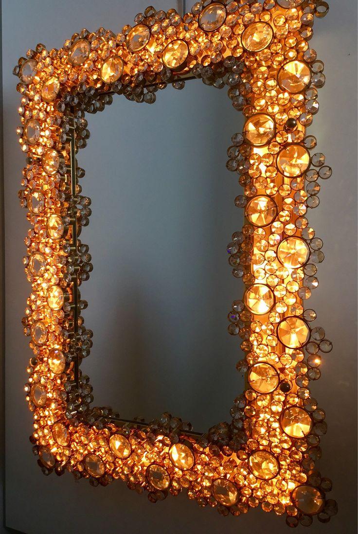 Ein persönlicher Favorit aus meinem Etsy-Shop https://www.etsy.com/de/listing/536955182/palwa-beleuchteter-spiegel-vergoldet