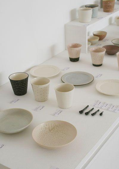 ceramics in soft colours