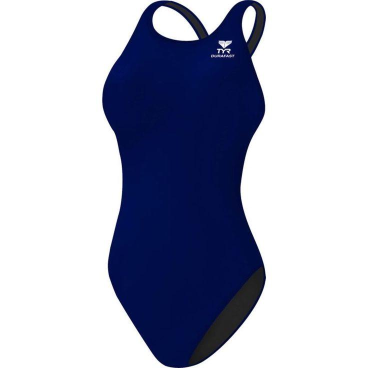 TYR Women's Durafast Elite Maxfit Racerback Swimsuit, Size: 32, Blue