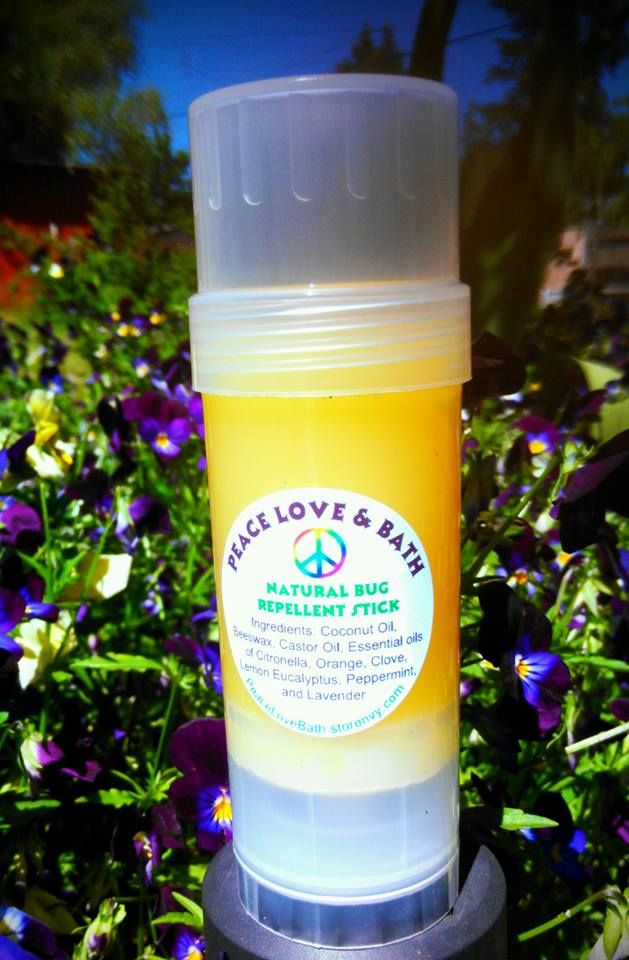 All natural bug repellent hard lotion stick. Made with a combo of bug repelling essential oils and will keep away ticks, mosquitoes, and fleas. Will also provide relief on itchy bug bites.  Who needs chemicals when you can get the same result naturally?? Did you know that deet has known to cause ...