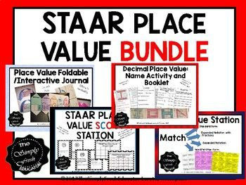 This bundle includes: Decimal Place Value Name Activity Place Value Foldable Place Value Scoot Place Value Station...